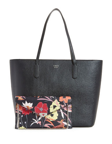 Guess Lottie Tote-BLACK-One Size