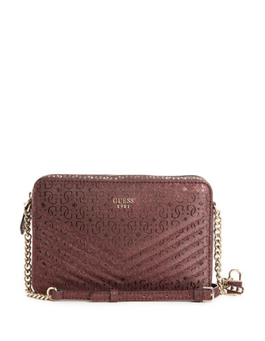Guess Halley Crossbody Bag-RED-One Size