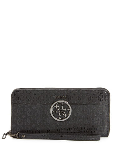 Guess Kamryn Continental Wallet-BLACK-One Size