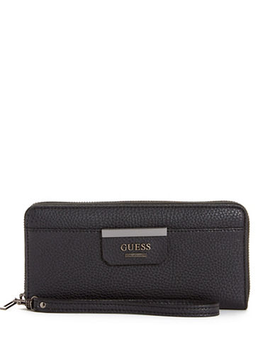 Guess Bobbi Zip-Around Wallet-BLACK-One Size