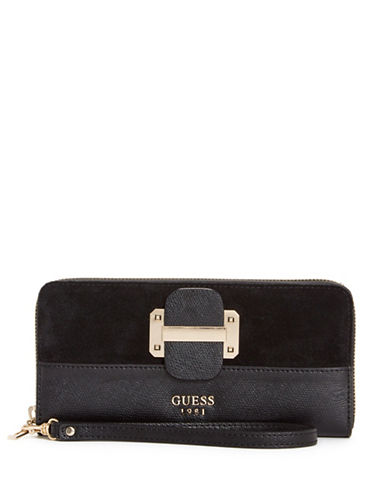 Guess Tepper Continental Wallet-BLACK-One Size