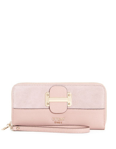 Guess Tepper Continental Wallet-PINK-One Size