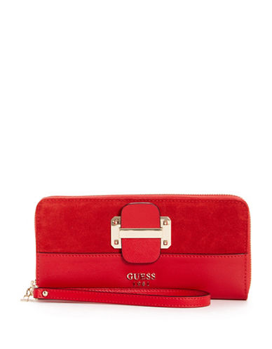 Guess Tepper Continental Wallet-RED-One Size