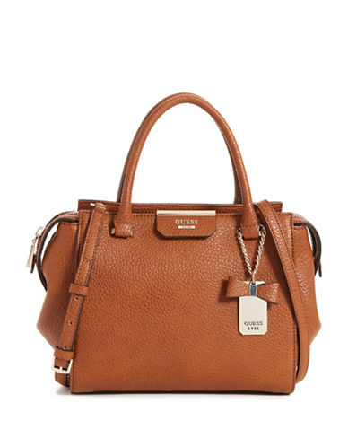 Guess Ryann Satchel-BROWN-One Size