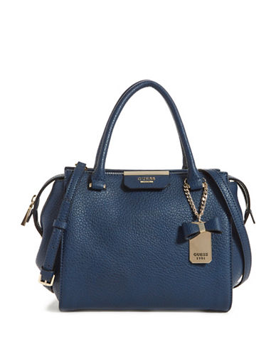 Guess Ryann Satchel-BLUE-One Size