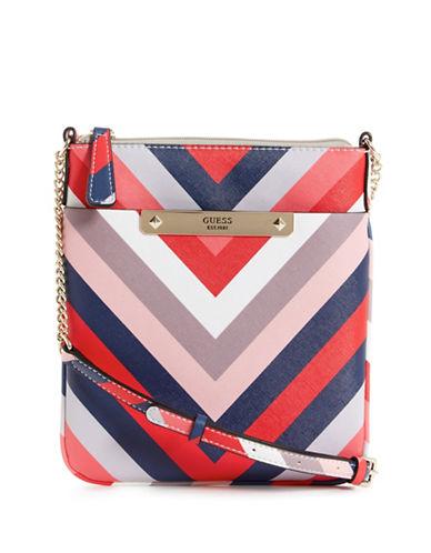 Guess Britta Zip Mini Crossbody Bag-MULTI STRIPE-One Size