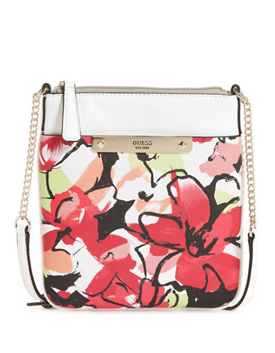 Guess Britta Zip Mini Crossbody Bag-FLORAL-One Size