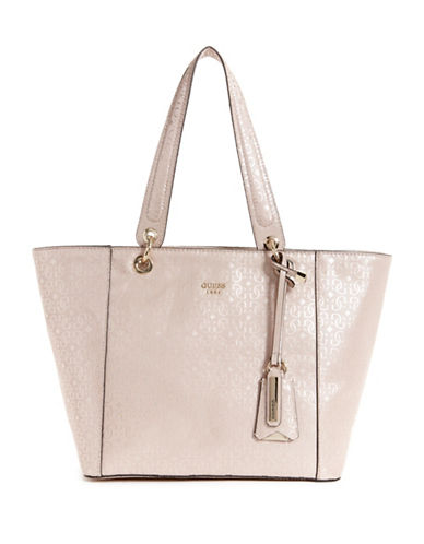 Guess Kamryn Printed Tote-PINK-One Size