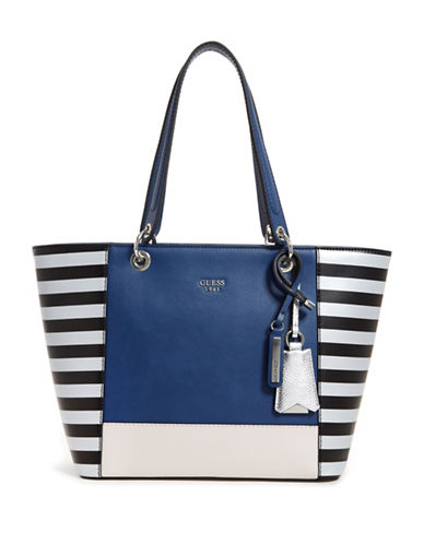 Guess Kamryn Colourblock Tote-NAVY-One Size