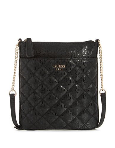 Guess Seraphina Logo Crossbody Bag-BLACK-One Size