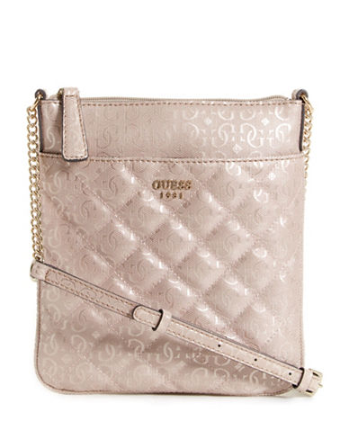 Guess Seraphina Logo Crossbody Bag-PINK-One Size