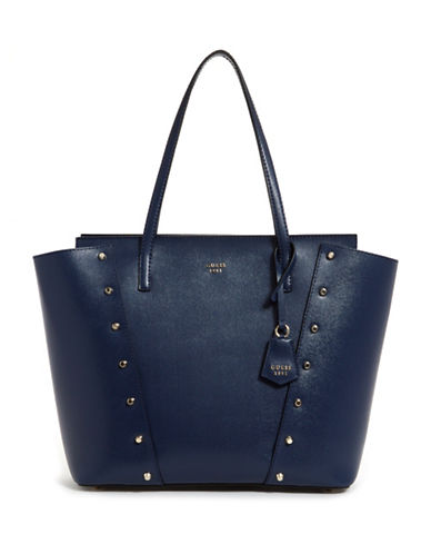 Guess Kaia Studded Tote-NAVY-One Size