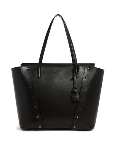 Guess Stud Textured Tote-BLACK-One Size