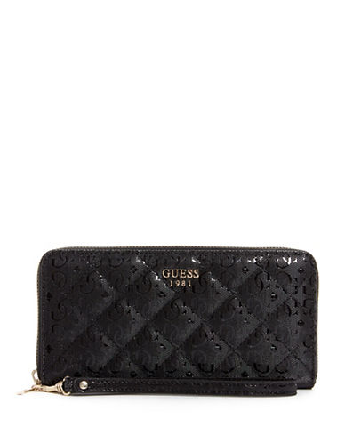 Guess Seraphina Zip Around Wallet-BLACK-One Size