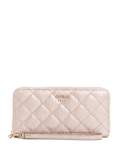 Guess Seraphina Zip Around Wallet-PINK-One Size