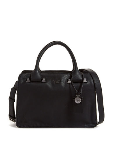 Guess Talan Girlfriend Satchel-BLACK-One Size