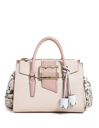 Guess Tori Flap Satchel-BLUSH-One Size