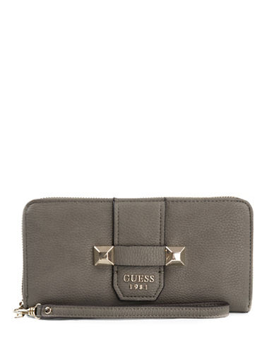 Guess Talan Zip-Around Wallet-FOG-One Size