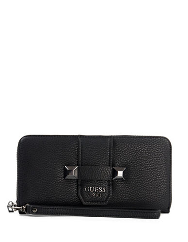 Guess Talan Zip-Around Wallet-BLACK-One Size