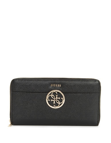 Guess Kamryn Cheque Organizer-BLACK-One Size