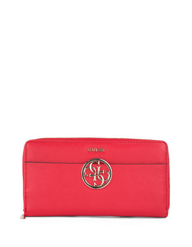 Guess Kamryn Cheque Organizer-RED-One Size