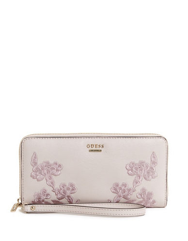 Guess Eden Zip-Around Wallet-BLUSH-One Size