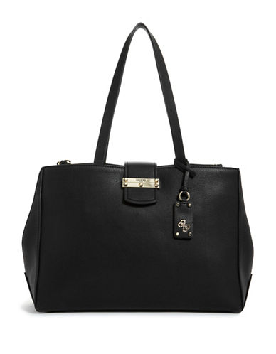 Guess Arden Society Top Handle Bag-BLACK-One Size