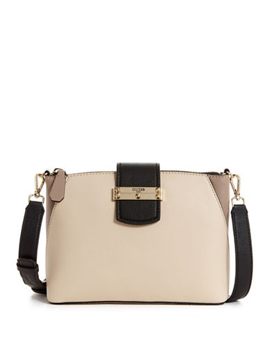 Guess Arden Zip Crossbody Bag-STONE-One Size