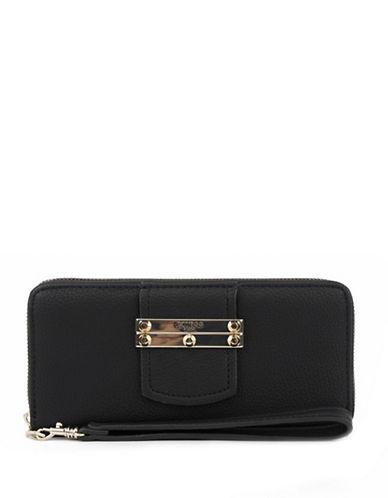 Guess Arden Zip-Around Wallet-BLACK-One Size