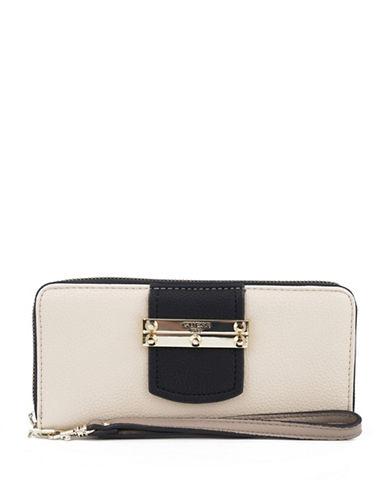 Guess Arden Zip-Around Wallet-STONE-One Size