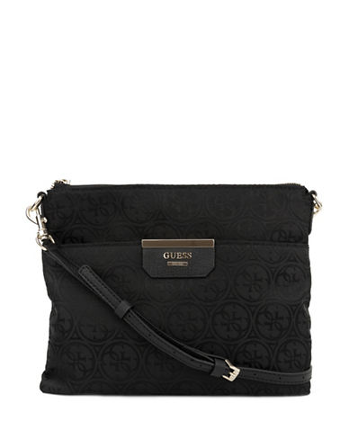 Guess Ryann Digital Crossbody Bag-BLACK-One Size