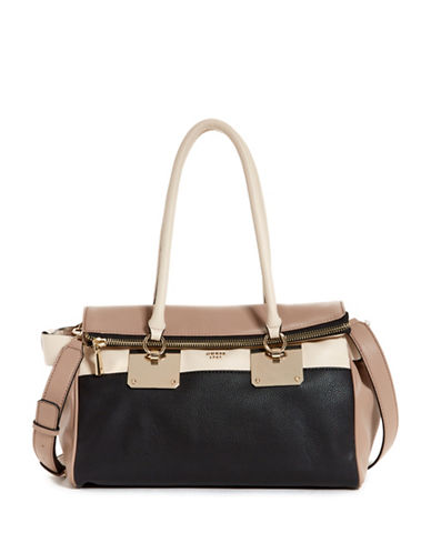 Guess Luma Dream Satchel-BLACK/TAN-One Size