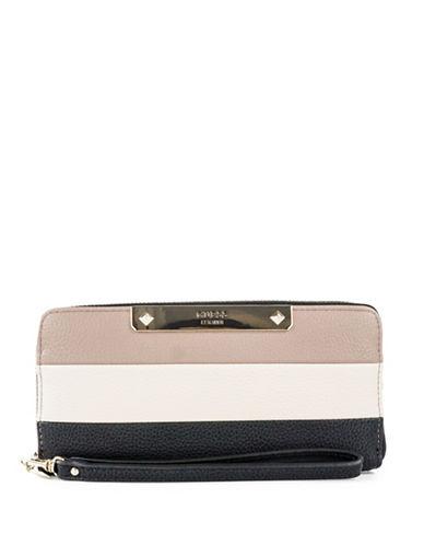 Guess Luma Colourblock Zip Wallet-BLACK-One Size