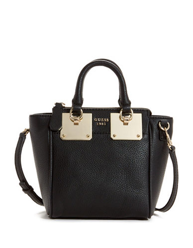 Guess Luma Mini Satchel-BLACK-One Size