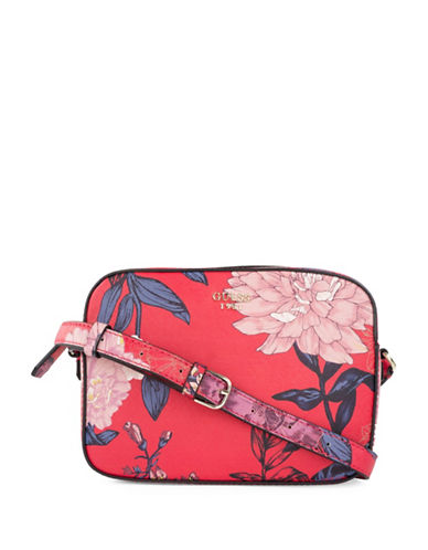 Guess Kamryn Floral Crossbody Bag-RED-One Size
