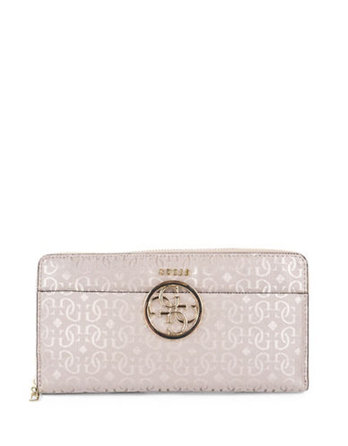 Guess Kamryn Cheque Organizer-PINK-One Size