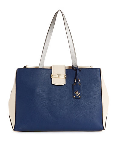 Guess Arden Society Carryall-BLUE-One Size
