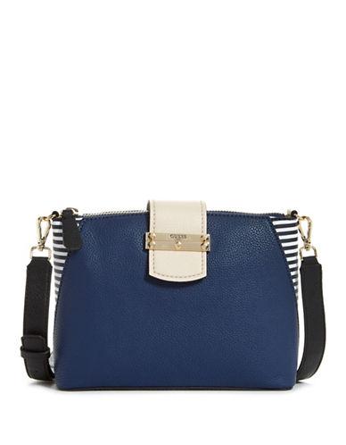 Guess Arden Colourblock Crossbody Bag-BLUE-One Size