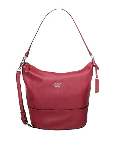 Guess Edmore Hobo Bag-RED-One Size