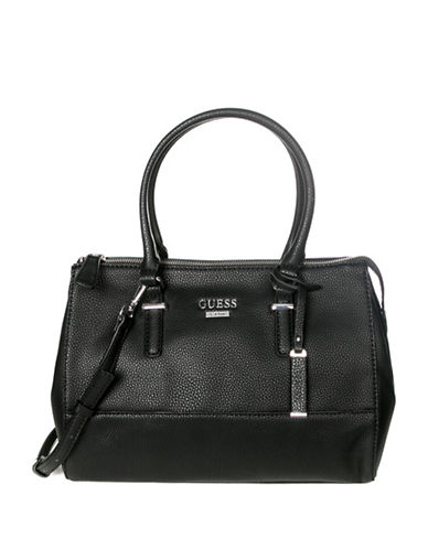 Guess Edmore Satchel-BLACK-One Size