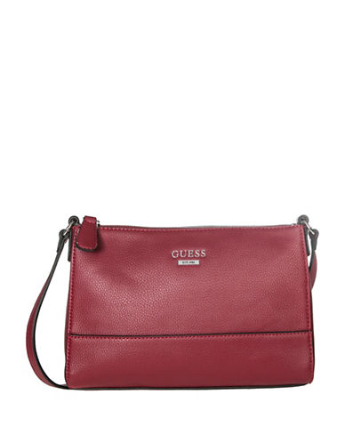 Guess Edmore Crossbody Bag-RED-One Size