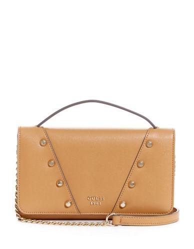 Guess Kaia Mini Crossbody Bag-TAN-One Size