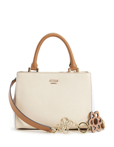 Guess Dania Girlfriend Satchel-STONE-One Size