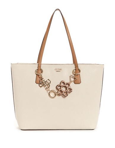 Guess Dania Zip Tote-STONE-One Size