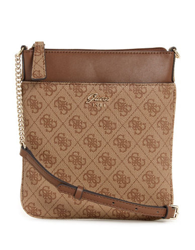 Guess Mini Tourist Crossbody Bag-BROWN-One Size