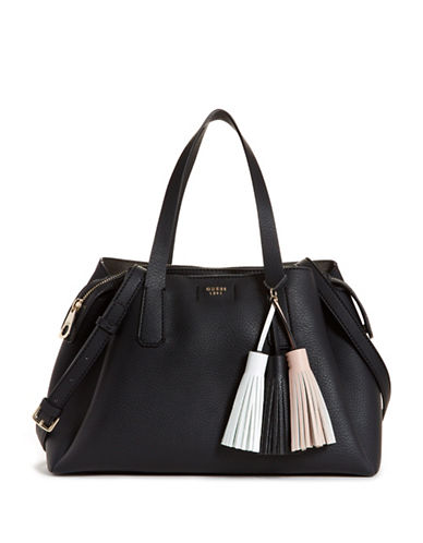 Guess Girlfriend Crossbody Satchel-BLACK-One Size