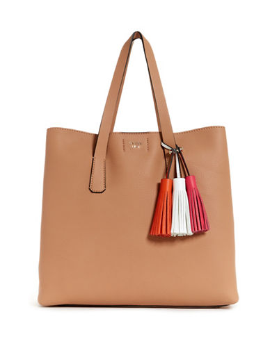 Guess Multicoloured Tassel Tote Bag-TAN-One Size