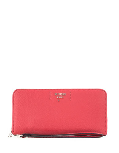 Guess Trudy Slim Zip-Around Wallet-POPPY-One Size