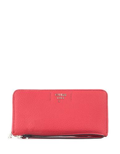 Guess Trudy Slim Zip-Around Wallet-POPPY-One Size