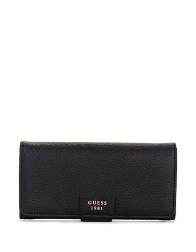 Guess Trudy File Clutch-BLACK-One Size